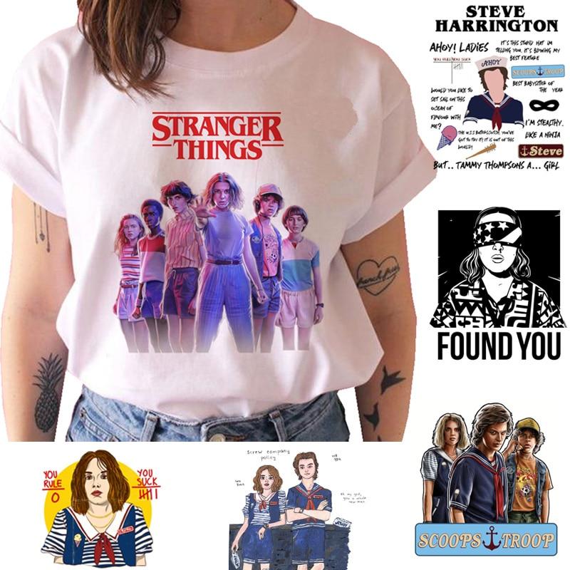 Stranger Things T Shirt Women Season 3 New Tshirt Ullzang 90s Funny Upside Down Graphic T-shirt Female Harajuku Top Tees Cartoon