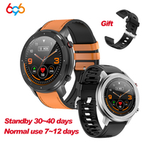 F12 moda inteligentny zegarek na pasku 1.3 cal w pełni z okrągłych w pełni dotykowy ekran krokomierz Smartwatch mężczyźni tętno opaska monitorująca DT78 L11 w Inteligentne zegarki od Elektronika użytkowa na