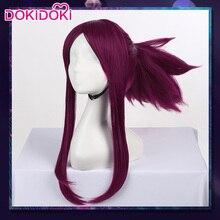 DokiDoki Game Cosplay Wig LOL League of Legends K/DA Akali Women Purple Hair Heat Resistant