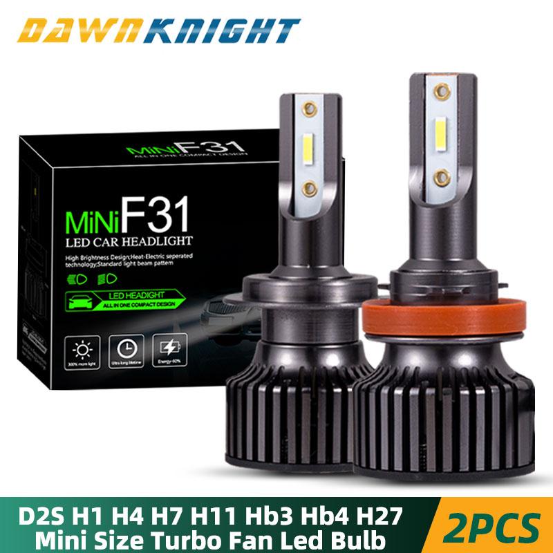 2PCS H4 Car Led Headlight H1 H4 H11 9005 HB3 9006 HB4 H27 D2S D2R H7 Led Bulb CSP 10000LM 6000K Mini Size Car Headlight Bulb Led