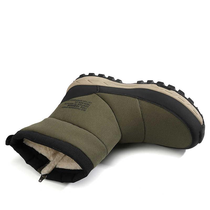 Zeeohh 2019 Pouplar ฤดูหนาวหิมะกันน้ำผู้ชายรองเท้ารองเท้าขนสัตว์ Warm ชายกลางลูกวัวบูตรองเท้าผ้าใบ 39-45