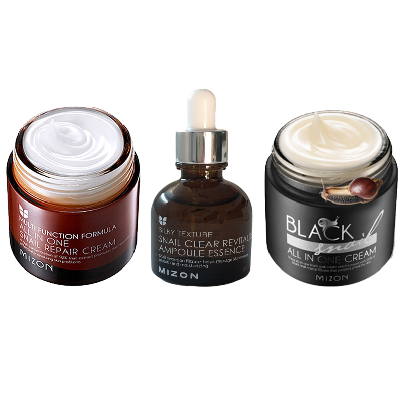 MIZON Black Snail All in One Cream Face Lifting Cream Black Snail All in One Cream Anti Wrinkle Scar Acne Treatment Facial Serum