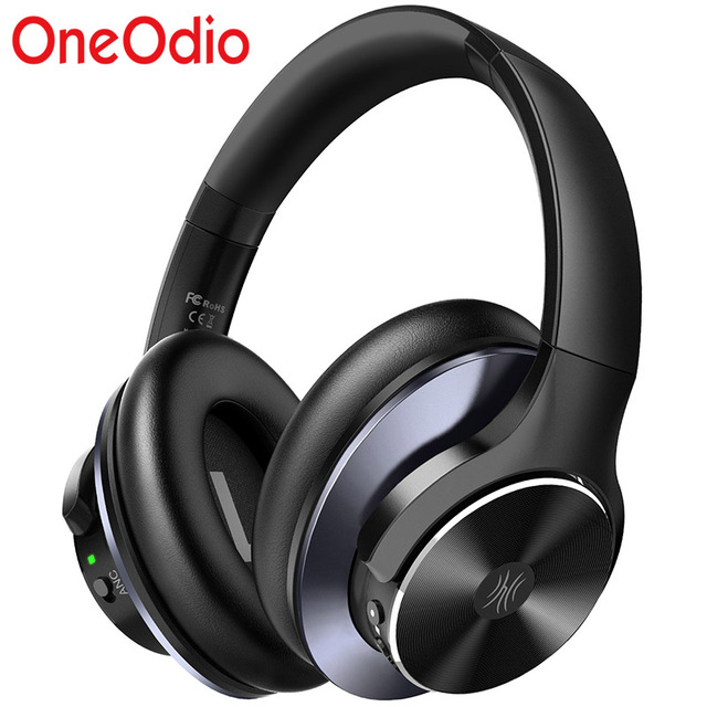 OneOdio Super Deep Bass Bluetooth V5.0 Wireless Headphones Active Noise Cancelling Bluetooth Earphones with Fast Charging A10
