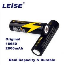 Leise Original 18650 Rechargeable Battery 3.7v Real High Capacity 2800mah Li-ion Lithium For Flashlight headlight batteria