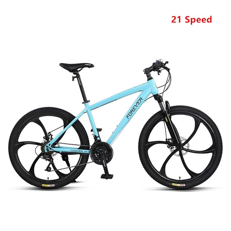 Mountain Bike Aluminum Alloy Frame 21 27 Speed 26 Inch Road Bike Dual Disc Brake MTB Bicicleta Downhill Sports Bicycle