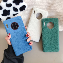 Double 11 Lamb Plush Phone Cases For Huawei Mate30 P20 P30 Nova 3 4 5 Pro Honor20 for iPhone 11 pro xs max xr 7 8 6 6s Plus case(China)