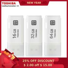 Купить с кэшбэком 100% Original TOSHIBA Real Capacity THUHYBS USB 3.0 16GB 64GB 32GB USB flash drive quality Memory Stick Pen Drive Free shipping