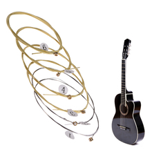6pcs Universal Acoustic Guitar String Brass Hexagonal Steel Core Strings For Musical Instruments Guitars Strings Guitar Part #WO
