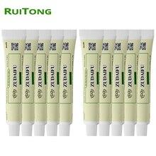 10 pièces ZUDAIFU crème Psoriasis hémorroïdes traitement pommade 100% médecine chinoise naturelle pour Massage corporel soins de santé