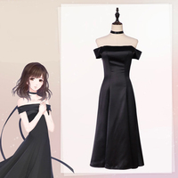 Game Love and Producer Cosplay Costume Women Cosplay Kawaii Sexy Black Dress Halloween For Women Costumes Party Customized