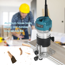 220V 800W Elektrische Router Trim Router 30000r/Min Houtbewerking Hout Router Hout Laminaat Elektrische Trimmer Compact Palm routers