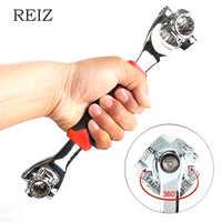 REIZ 48 en 1 clé dynamométrique multioutils clés ensemble clé à douille universelle 360 degrés Rotatin outils à main Spline boulon Torx réparation de voiture