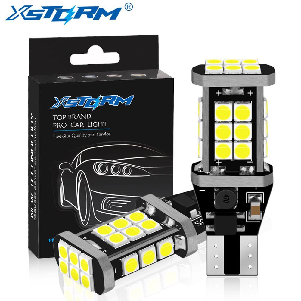 2Pcs W16W LED Bulb T15 Led Canbus OBC Error Free 920 921 912 Lamp 3030SMD Car Reverse Lights Backup Stop 6000K White DC 12V