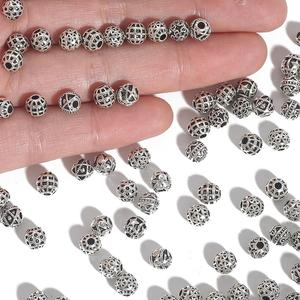 20-50pcs Silver Color Hollow Bead Caps Charm Spacer Rondelle Beads Connectors For Jewelry Making DIY Earring Necklace Bracelet