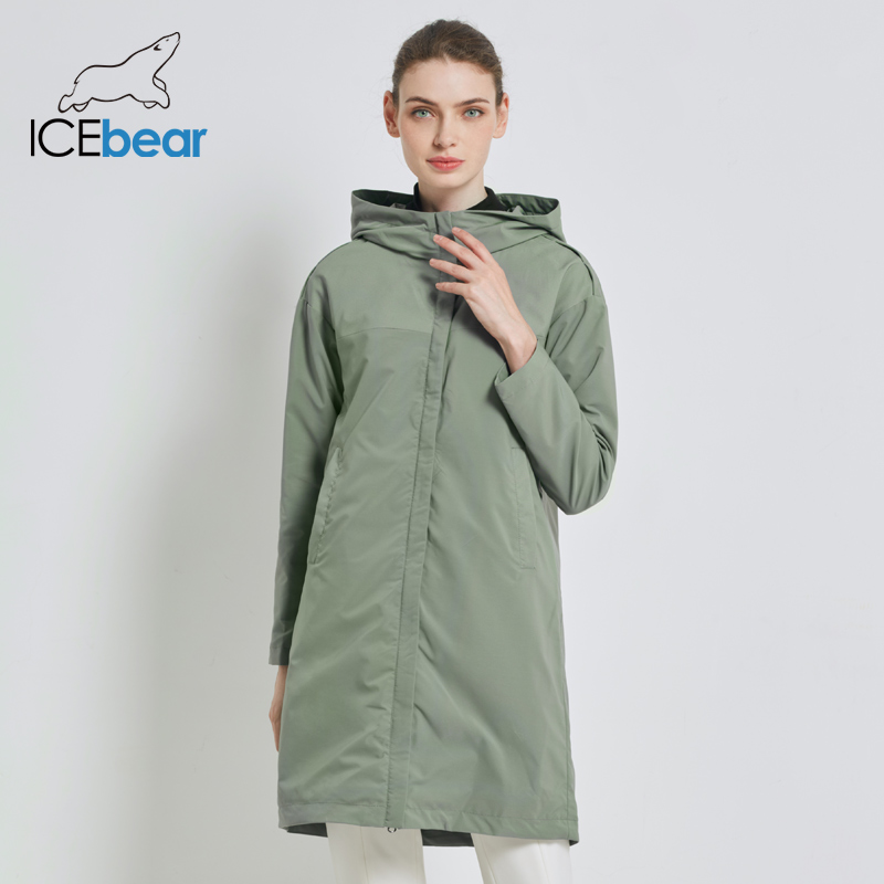ICEbear 2019 Autumn New Ladies Windbreaker Loose Fashion Casual Trench Coat For Women High Quality Brand Coat GWF19001I