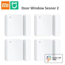 Xiaomi Mijia de puerta de ventana Sensor inteligente Mi Sensor de puerta Kits de hogar inteligente alarma sistema de seguridad WiFi para Android IOS