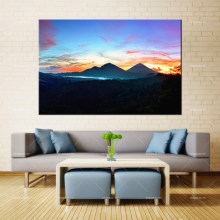 Forbeauty lienzo pintura pared arte mountains_sky_bali_sunrise_kintamani_indonesia impresión en aerosol tinta impermeable decoración del hogar(China)