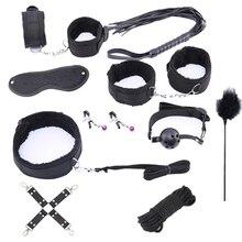 2 Colors Sex Toys for Women Men bdsm Bondage Products Erotic Adults Handcuffs SM Anal Plug  BDSM Set