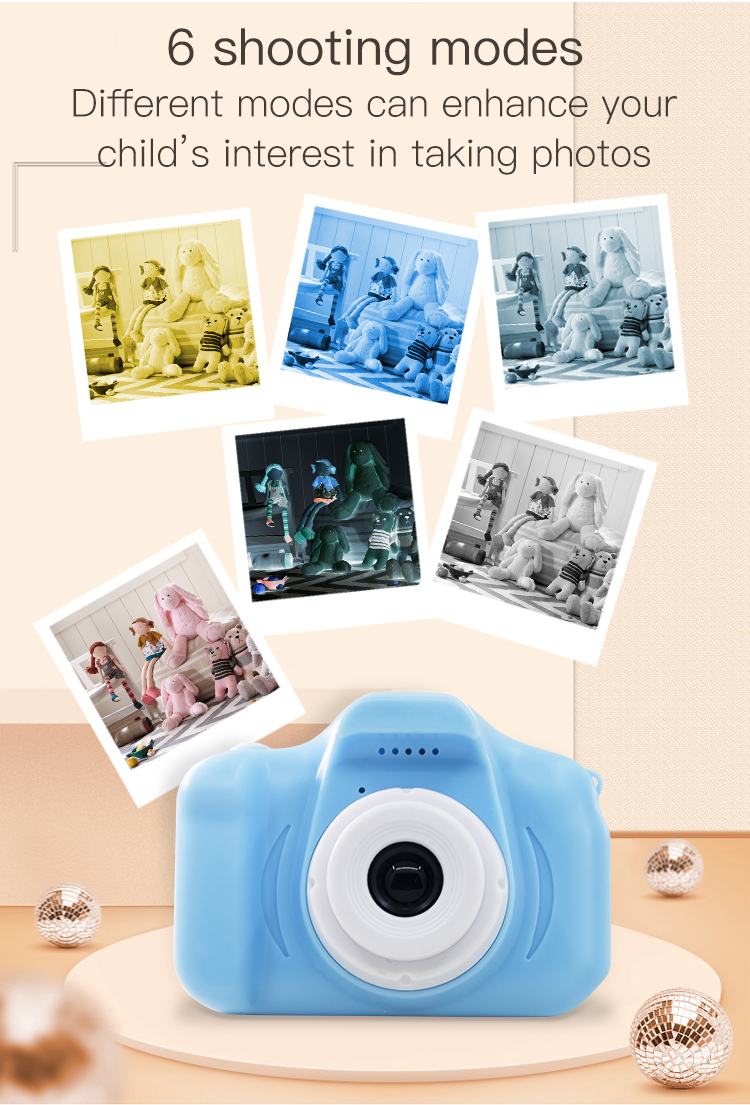 Hab7085e2f6444afeaa80623f326aa79d2 TISHRIC Mini Digital Children's Camera 1080P Kids Educational Toys camera For Shooting Video For Children Baby Birthday/Gifts