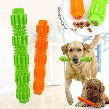 Brinquedo do cão de estimação tpr resistência à mordida e vazamento de alimentos molar haste treinamento mordida brinquedo pode colocar lanches