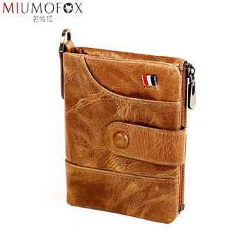 Brand Genuine Leather Women Wallet with Card Holder Man Luxury Short Wallet Purse Zipper Wallets Casual Small Wallets Billfold фото