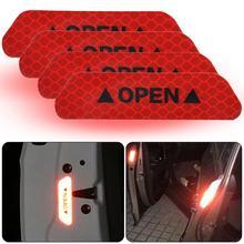 4 шт Клей «открыто» на автомобильную дверь Светоотражающие Стикеры ленты безопасности предупреждающий знак наклейка