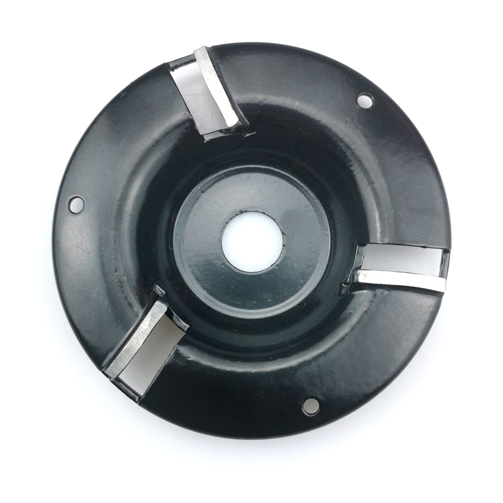 For 16mm Angle Grinder Tool Milling Cutter Tea Tray Blade Tridentate Woodworking Disc Grinder 100MM Power Wood Carving Disc