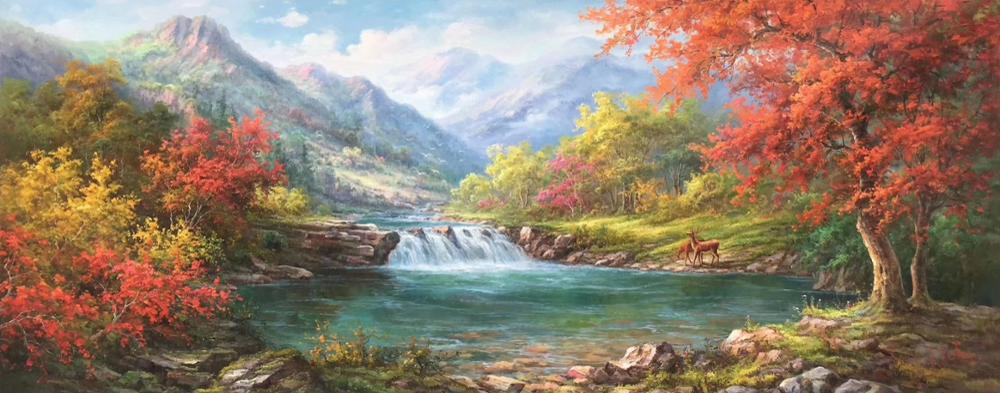 100%HandPainted High Quality Oil Painting on Canvas European-style landscape Canvas Painting Wall Art Picture for HomeDecoration