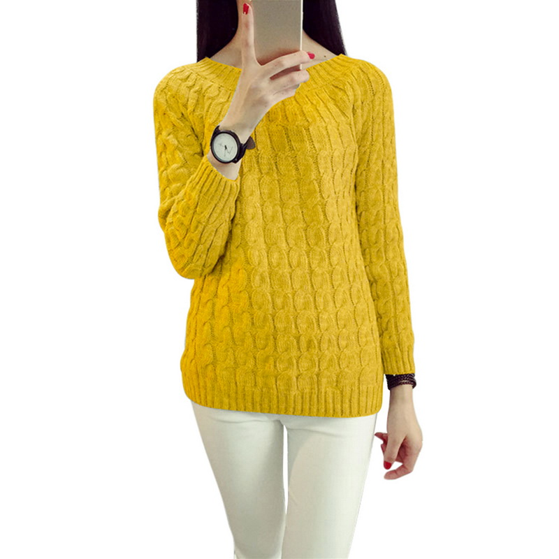 Осенне-зимние свитера с крученым узором для женщин, модный базовый пуловер, джемперы с длинным рукавом, Повседневные вязаные пуловеры для ж...