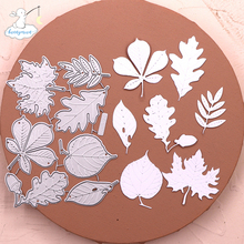Leaves Stencil Cutting-Dies Craft-Decoration Scrapbooking Metal New-Arrival Bunnymoon