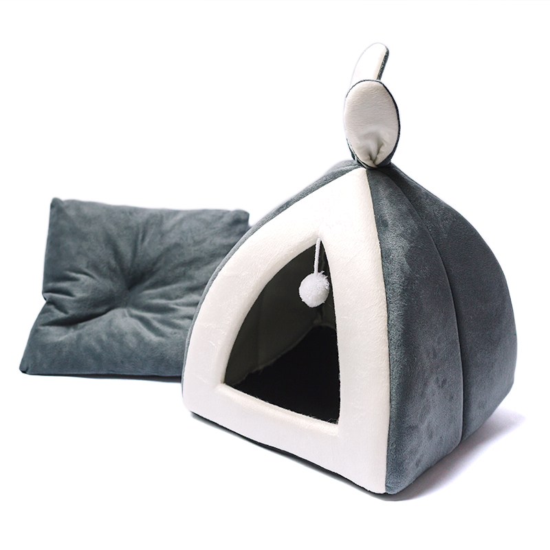 Cute Cat Kitten House Bed For Small Dogs Puppy Warm Pet Nest Cave Rabbit Ears Ebay