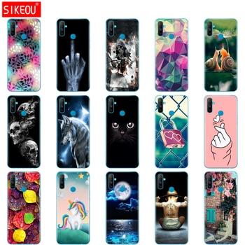 Перейти на Алиэкспресс и купить Чехол для телефона Realme C3, мягкий силиконовый чехол из ТПУ для OPPO Realme C3 RMX2020 C 3 RealmeC3, чехол для телефона, чехол 6,5 дюйма с котом