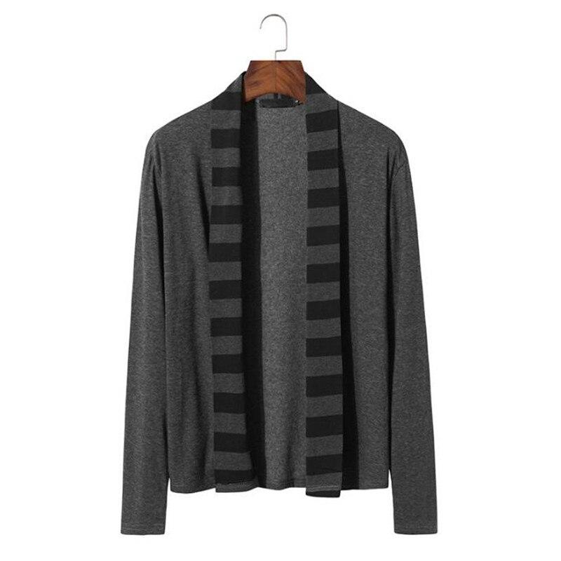 WIPU Mens Sweaters Long Sleeve Cardigan Male Pull Style Cardigan Clothings Fashion Casual Men Knitwear Sweater Coats