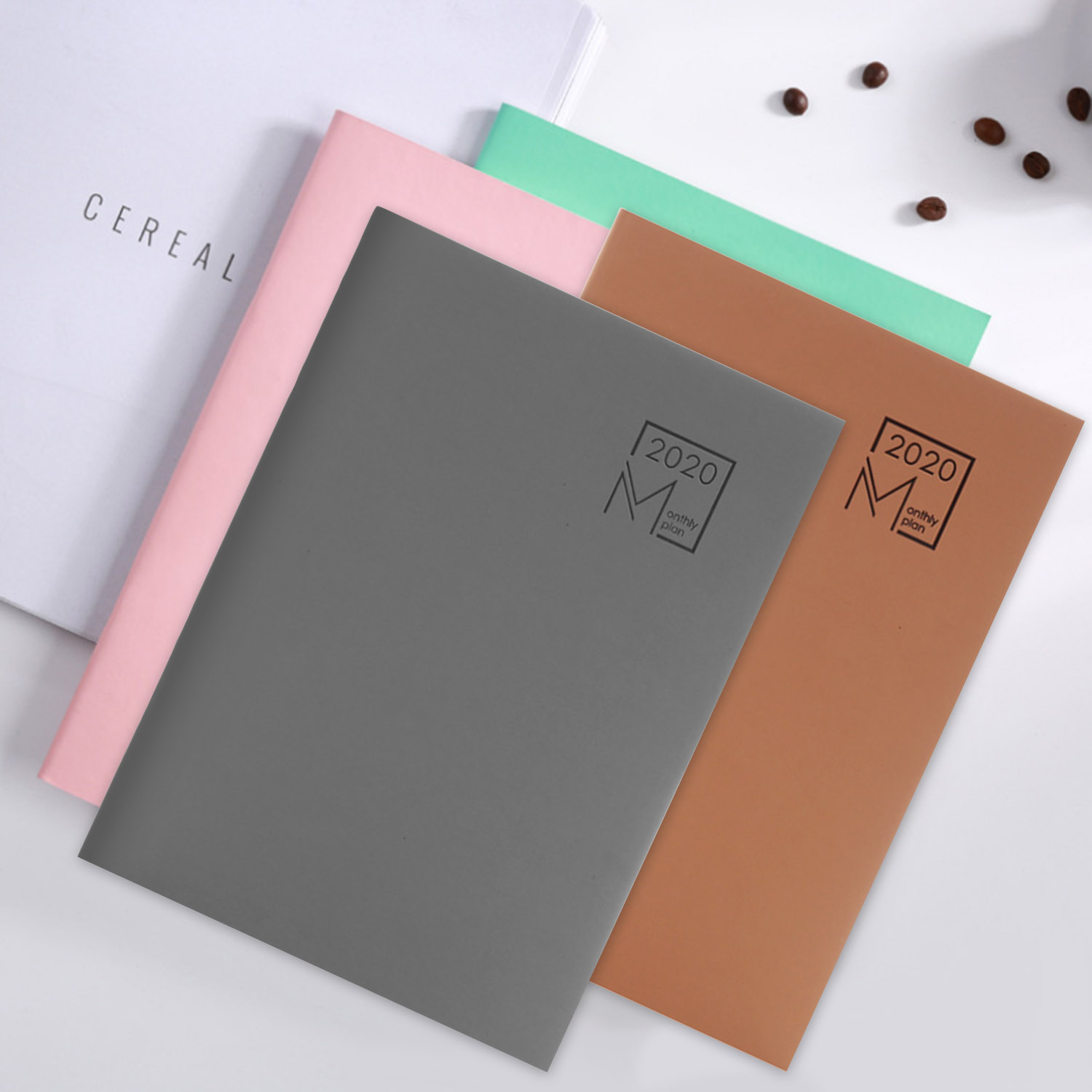 B5 <font><b>2020</b></font> <font><b>Calendar</b></font> Monthly Planner 365 Days Daily Schedule Plan Notebooks with 48 Pages for Home Office Students Supplies image