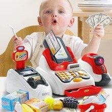 Детский симулятор Многофункциональный Супермаркет кассовый аппарат Набор делать вид, что играть детские логическое мышление игрушки умения