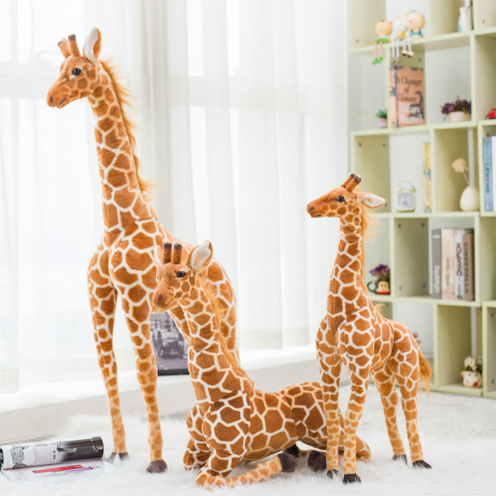 Toy Plush-Toys Giraffe-Doll Birthday-Gift Animal Cute Stuffed Soft Giant-Size Kids title=