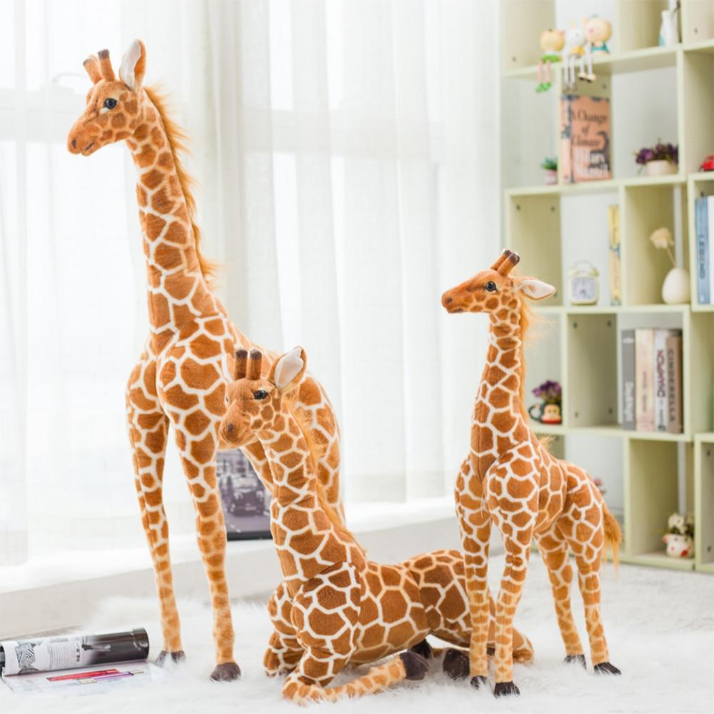 Giant Size Giraffe Plush Toys Cute Stuffed Animal Soft Giraffe Doll Birthday Gift Kids Toy