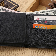 Men Wallets PU Leather High Quality Material With Coin Pocke