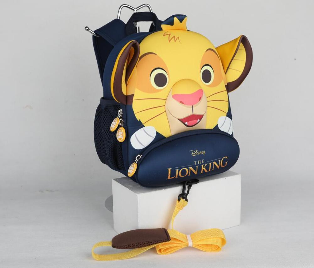 100% Genuino Il Re Leone Simba 2020 Nuovo Zaino Per Bambini anti-perso Re Leone cute della Scuola Dei Bambini del Sacchetto giocattolo regalo di compleanno bambola 3