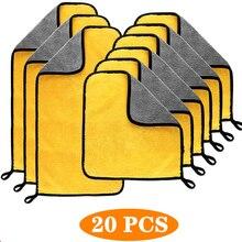 3/5/10/20 adet oto yıkama mikrofiber havlu araba temizleme kurutma kumaş boya bakım bezi detaylandırma araba yıkama havlu temizleme oto araçları