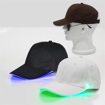 Adjustable LED Light Up FEDORA HAT Flashing Baseball Hip-Hop Accessories Fun Men Women Fashion Sport