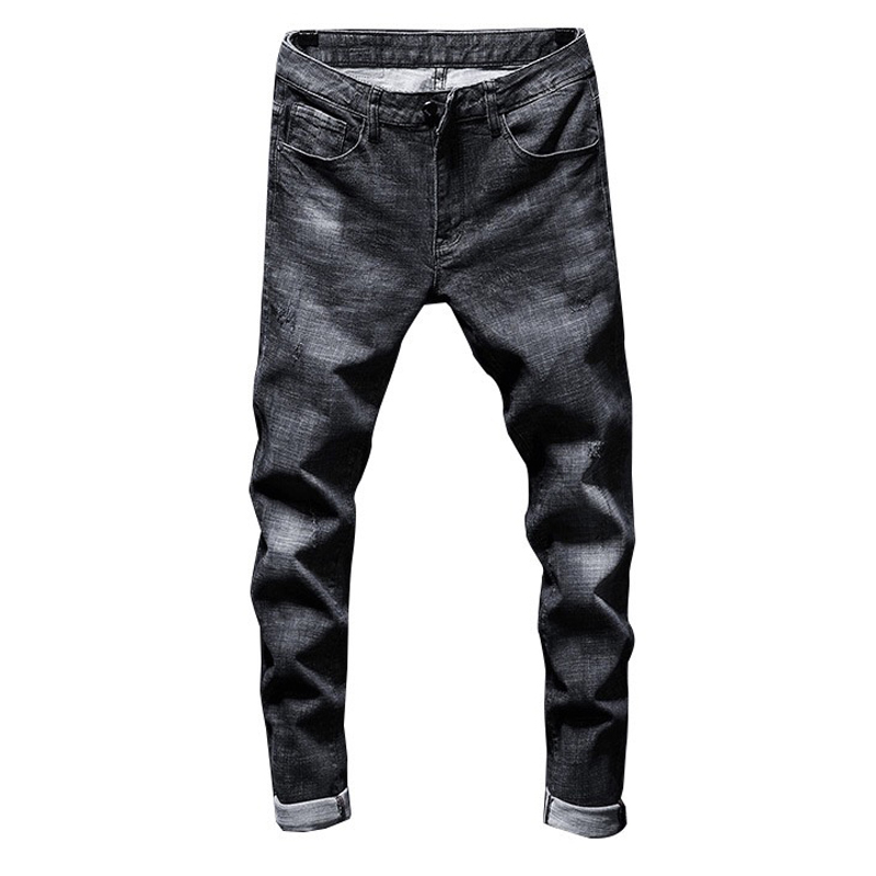 2019 New Young Men's Fashion Casual Stretch Slim Classic Trousers Denim Pants Male Skinny Jeans Men