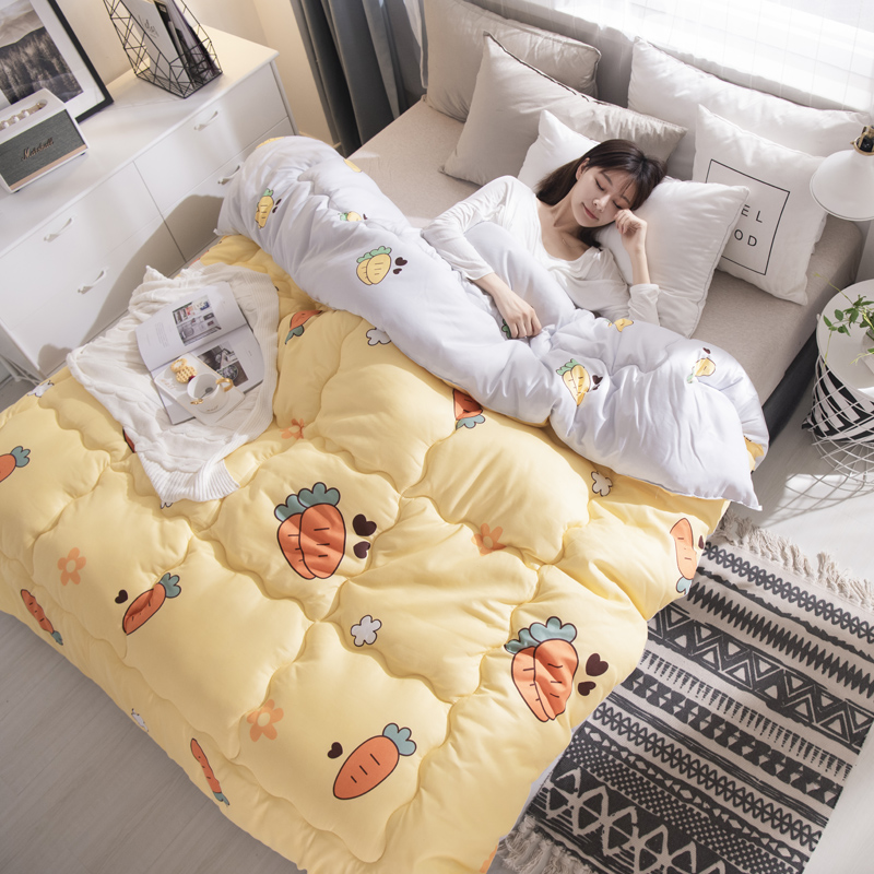 New Design Quilt Luxury Printed Winter Blanket Bedding Comforter Twin/queen/king Size Patchwork Home Duvet Thick Warm Quilts