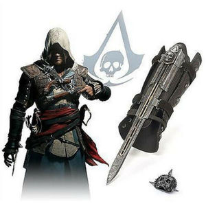 Toys Model Game Assassin Creed Ezio Brotherhood SYNDICATE LAMA Flag Pirate Hidden Blade Replica Toys Model 1:1 Pirate