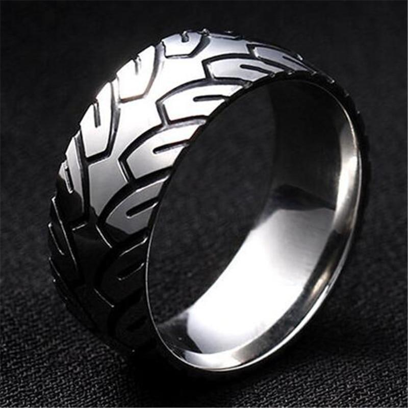 Из нержавеющей стали в виде геометрических фигур, кольцо для мужчин, мужской серебряный Цвет указательный палец кольцо аксессуары вечерние ювелирные изделия