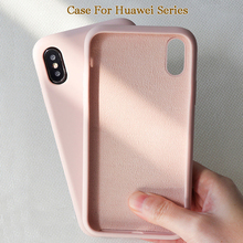 Get more info on the Solid Color Silicone Case for Huawei P20 Lite P Smart 2019 P30 Pro Mate 20 Case for Honor 8X Nova 3i 9 Lite 10 20 Pro Y5 Y9