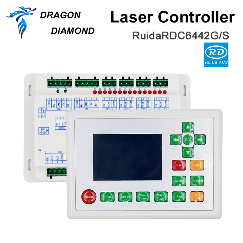 DRAGON DIAMOND Co2 Laser DSP Controller System Ruida RDC6442G/S For Laser Engraving And Cutting Machine RDC 6442 6442G 6442S