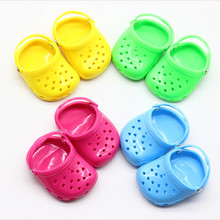 Fashion Sandal Shoes for 18 Inch American Dolls Summer Beach Sandals Slippers Fit 43cm Height Girl Baby Toys