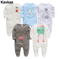 Kavkas 2020 5pcs 100% cotton cartoon cat fox pattern super cute male baby high quality baby clothing