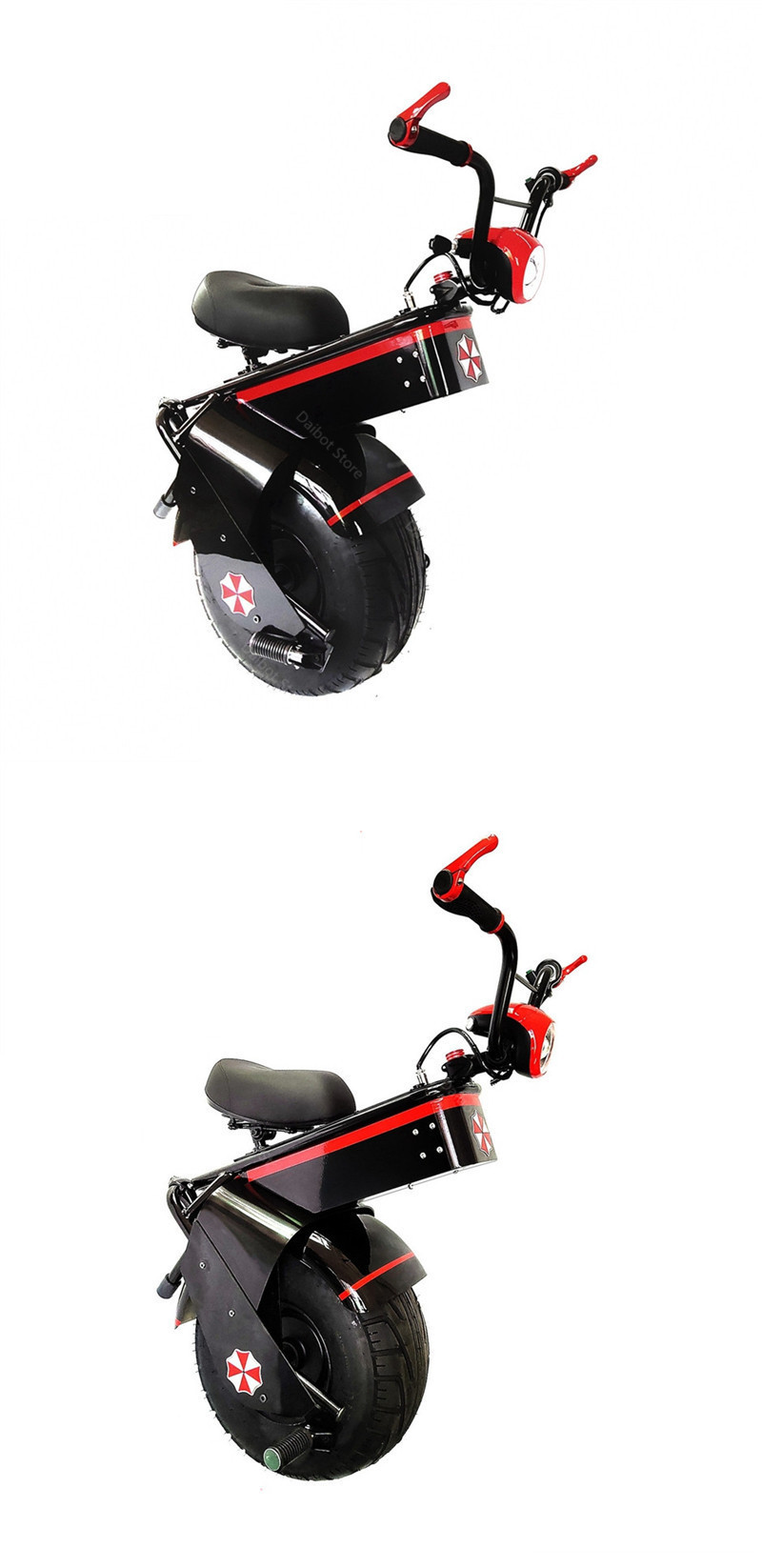 Electric Scooter 1500W One Wheel Self-balancing Scooter Motorcycle Seat 110KM 60V Electric Monowheel Scooter 18 Inch Wide Wheel  (7)